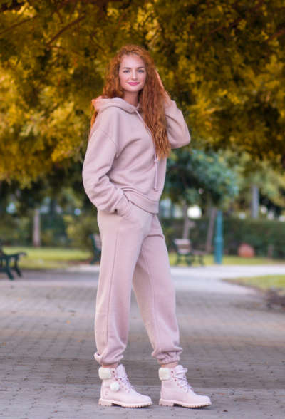 Женские спортивные брюки розовые