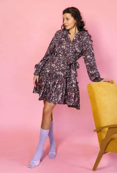 платье-мини-c-цветочным-принтом-фиолет